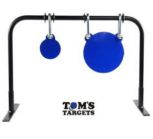 200mm and 100mm Hardox AR 500 Steel Double Gong Shooting Target With Stand