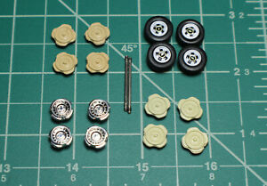 M2 Machines Greenlight 1/64 Square Body Wheels Rubber Tires Custom Parts Project