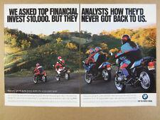 1994 BMW K75 R100GS K75S & R100R Motorcycles photo vintage print Ad