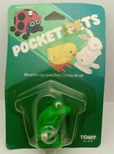 Vintage 1985 TOMY Pocket Pets Frog, Wind Up