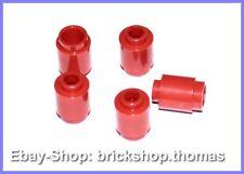 LEGO 5 x Pierres Environ rouge - 3062b-Brick, Round 1 x 1 Red-Neuf/New