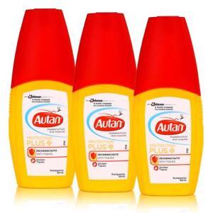 Autan Insektenschutz Protection Plus Zeckenschutz Pumpspray 100ml (3er Pack)