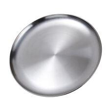 Stainless Steel Dinner Plate Dish BBQ Dessert Snacks Serving Platter 20/23cm