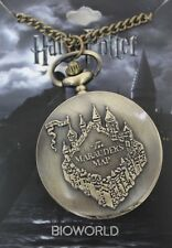 HARRY POTTER OFFICIAL LICENSED THE MARAUDERS MAP BRONZE POCKET WATCH BRAND NEW