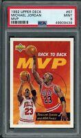Michael Jordan Chicago Bulls 1992 Upper Deck MVP Basketball Card 67 Graded PSA 9