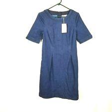 Boden Women's Navy Denim Short Sleeve Dress - Size. 6R  NEW