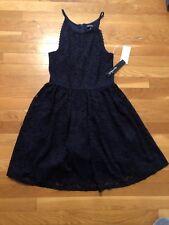 Sequin Hearts Dress Womens Juniors Sz 9 Nwt Blue