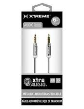 Metallic 3.5mm Audio Cable Silver or Black Choose Color XT-XAC90111A12
