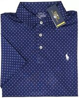Polo Ralph Lauren Blue Short Sleeve Wicking Performance Shirt ThermoVent NEW $98