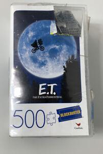 E.T. Movie 500 Piece Jigsaw Puzzle in Plastic Retro Blockbuster VHS Video Case