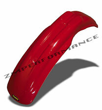 NEW HONDA 83 - 99 CR 125 MAIER RED PLASTIC FRONT MOTORCYCLE FENDER CR125