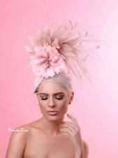 Blush Nude Fascinator, Kentucky Derby Fascinator for women's, Hand made in USA