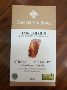 Desert Shadow Organic Henna Semi-Permanent Hair Colour Dye Strawberry Blonde