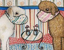 Lagotto Romagnolo Collectible Folk Art Original 11x14 Painting Truffle Dog Ksams