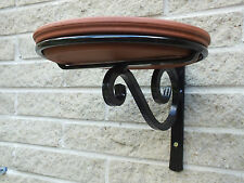 Wrought Iron Bird Bath or Feeder Wall Mounted