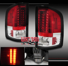 07-11 CHEVY SILVERADO 1500 2500 3500 HD LED TAIL LIGHTS LAMP RED/CLEAR 08 09 10