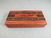 Vintage Cedar Wood Cribbage Board Card Box Cape Cod Souvenir No Pegs