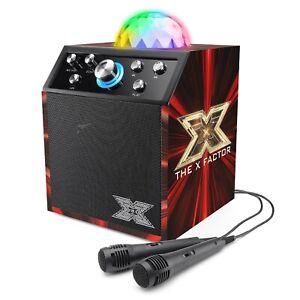 X Factor Disco Karaoke Cube Bluetooth Speaker with 2 Microphones