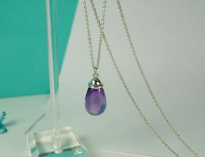 Tiffany & Co. Paloma Picasso 20 Ct. Carat Amethyst Pendant in Sterling Silver