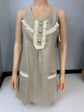 Juicy couture NEW Gold Sleeveless Dress Us 6 Uk 10 Bnwts Rrp £175