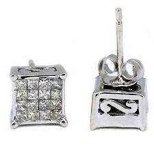 Princess Cut Diamond Stud Earring F Vvs2