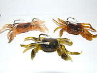 3 x PEELER CRAB LURE 4/0 DOUBLE HOOK BOAT WRECK BEACH FISHING