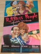 "Original 1986 - ""Ruthless People"" 27x40 FLD  Movie Poster *Rare* Video Promo"