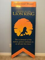 "Original Walt Disney World, ""The Lion King""Attraction Sign,Heavy Steel 30""x71"""