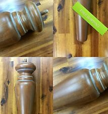 "Carved Rustic Wood Leg Sofa Chair Loveseat Ottoman Table Feet (4 Legs) 11.5"" H"