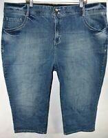 Lane Bryant Capri Tighter Tummy Tech Womens Jeans Size 28 Stretch Meas. 46x21
