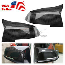 M4 3K Carbon Fiber Style Replace Side Mirror Cover Cap For 14-17 BMW F32 F33 F36