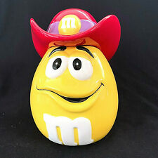 M And M Yellow With Red Cowboy Hat Ceramic Cookie Jar Limited Edition Galerie