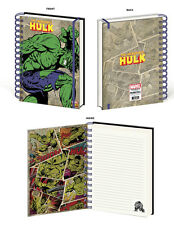 INCREDIBLE HULK RETRO SPIRAL NOTEBOOK MARVEL SUPERHERO COMIC BRUCE BANNER ICON!!