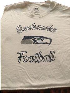 Seattle Seahawks Women's T-Shirt XL Cropped Long Sleeve