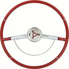 1964 Impala Red Steering Wheel With Horn Ring