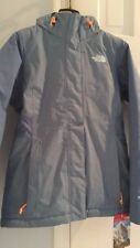 NWT $199 THE NORTH FACE WOMEN'S INLUX INSULATED ICE BLUE AND ORANGE JACKET