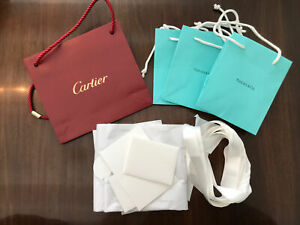 Lot Of Tiffany And Cartier Bags
