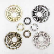 Metal O-Ring Welded ,for straps,purses,bags,Choose quantity Size & color (usa)