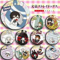 4pcs Anime Bungou Stray Dogs Dazai Badges Itabag Button Pin Cosplay Brooch#M973