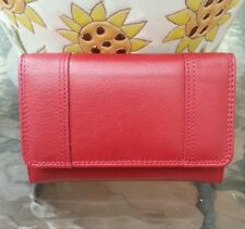 Relativity midi genuine leather wallet red color