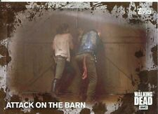 Walking Dead Season 5 Mud Parallel Base Card #62 ATTACK ON THE BARN