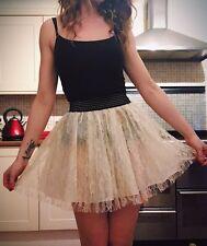 Shikka London White Lace Tutu Skirt, Size M Medium