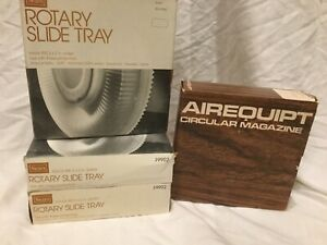Lot of 4 Sears / Airequipt Rotary Slide Tray Carousels - Each Holds 100 Slides