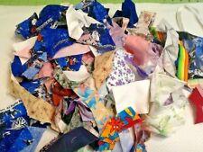 "Small Fabric Scraps ""Quilt Crumbs"" For Fiber Art / Crafting Lot # 33"