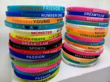 Lot de 50Pcs Silicone Bracelets Wristbands Bijoux femme