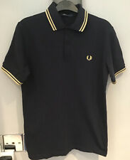 ":Fred Perry : MIE Twin Tipped Polo Shirt ( 36"" Slimmer Fit )Navy"
