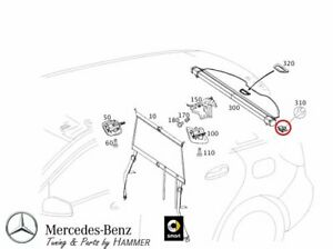 Orig. Mercedes-Benz Support Verrouiller Store Chargement Couverture Classe B 246