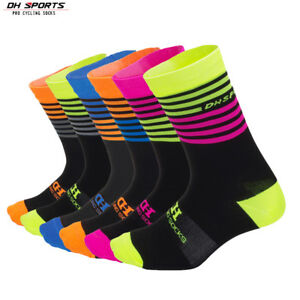 MTB Cycling Socks Men Women Breathable Bicycle Outdoor Sports Bike Knee Socks