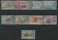 Cayman Islands 1950 KGVI values 1 1/2d to 5/ used