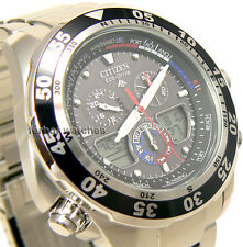 CITIZEN ECO-DRIVE PROMASTER WORLD TIME ANA-DIGI ALARM CHRONO 200m JR4045-57E cg